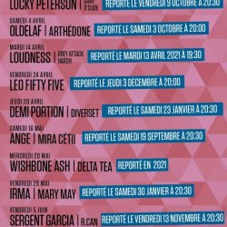 Informations annulations/reports concerts